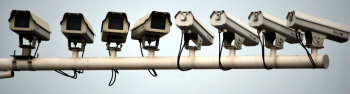 Surveillance cameras - representing big brother oversight